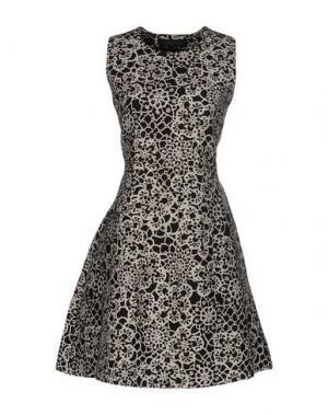 Короткое платье THAKOON. Цвет: темно-коричневый