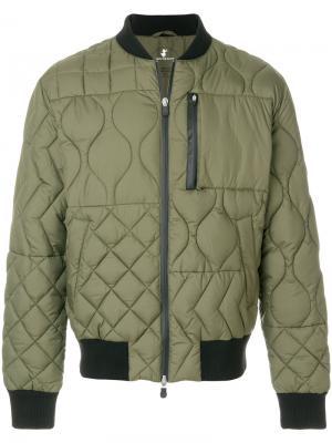 Стеганая куртка-бомбер Save The Duck. Цвет: зелёный