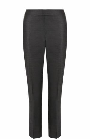 Укороченные брюки прямого кроя St. John. Цвет: серый