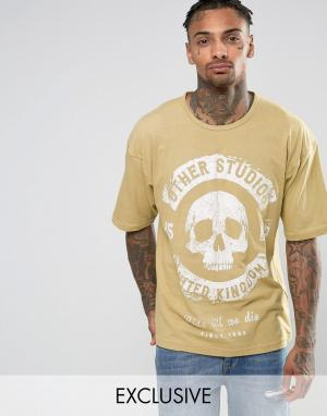 Other UK Oversize-футболка Wolf. Цвет: stone
