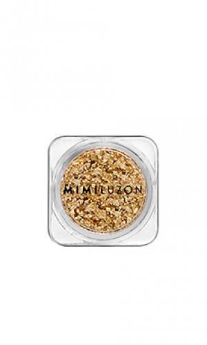 Пудра для лица 24k pure gold Mimi Luzon. Цвет: металлический золотой