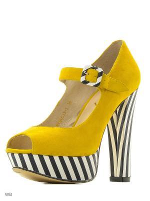 Туфли BERKONTY. Цвет: желтый