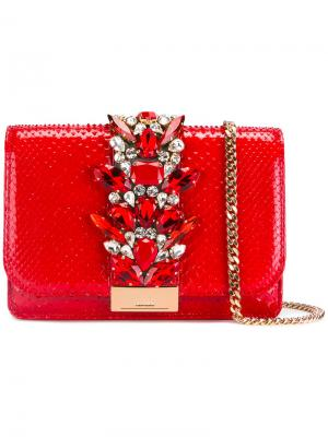 Декорированная сумка через плечо Gedebe. Цвет: красный