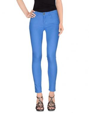 Джинсовые брюки MAISON ESPIN. Цвет: лазурный