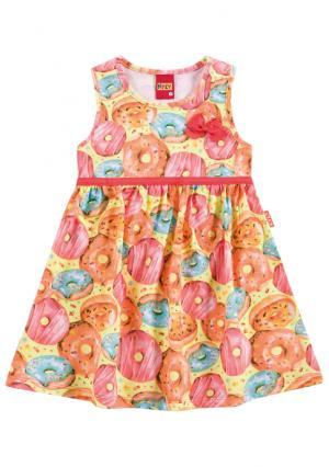 Платье KYLY. Цвет: желтый (желтый/розовый)