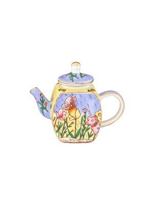 Сувенир-чайник Летний луг Elan Gallery. Цвет: голубой, желтый