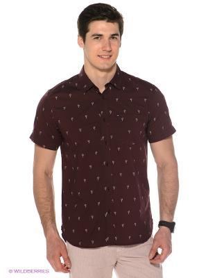 Рубашка  BEACONS Quiksilver. Цвет: бордовый, белый