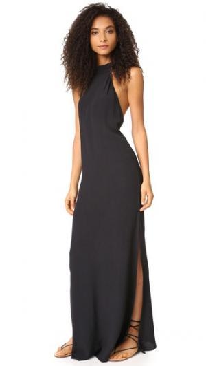 Макси-платье Tyra Flynn Skye. Цвет: голубой