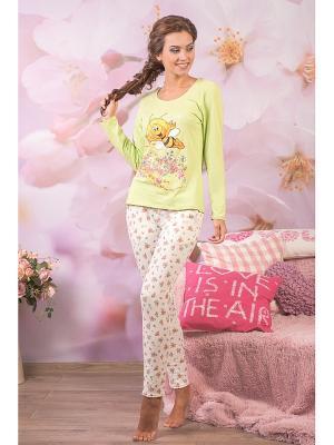 Пижама CLEO. Цвет: салатовый