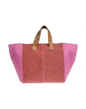 Большая сумка из текстиля BORSETTERIA NAPOLI 1985. Цвет: пастельно-розовый