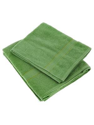 Махровое полотенце зеленый 50*90-100% хлопок, УзТ-ПМ-112-08-08 Aisha. Цвет: зеленый