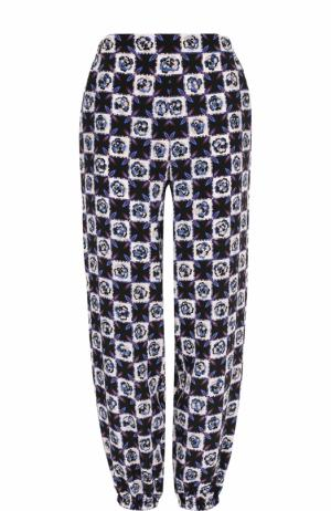 Шелковые брюки с карманами и принтом Emilio Pucci. Цвет: синий