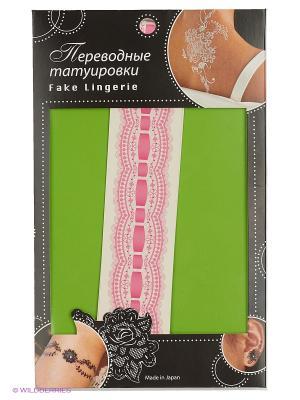 Татуировка переводная Фламандское Кружево, Fake Lingerie  (розовый*розовый FL04). Цвет: розовый