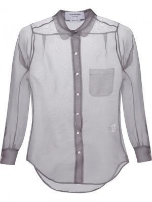 Прозрачная рубашка Thom Browne. Цвет: серый