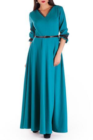Платье Mannon. Цвет: бирюзовый