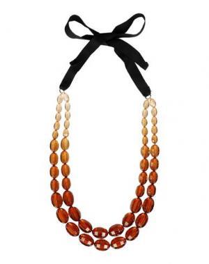 Ожерелье DETTAGLI. Цвет: коричневый