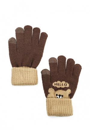 Перчатки Modis. Цвет: коричневый