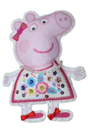 Шьем игрушку Пеппа-модница Peppa Pig. Цвет: голубой
