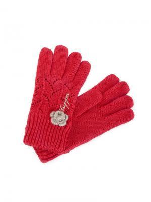 Перчатки HUPPA. Цвет: красный