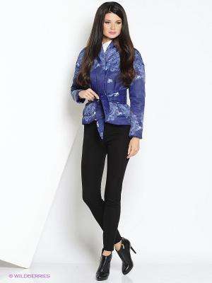 Куртка Анна Чапман. Цвет: синий