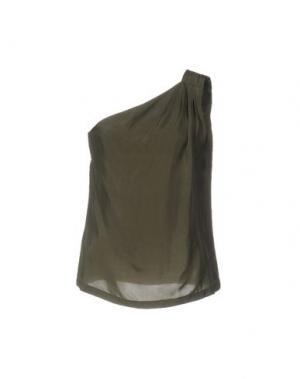 Топ без рукавов ALBA CONDE. Цвет: зеленый-милитари