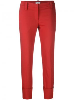 Cropped trousers Brunello Cucinelli. Цвет: красный