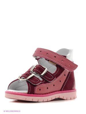 Босоножки Детский скороход. Цвет: розовый, бордовый