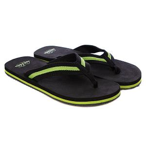 Шлепанцы  Flip Flops Black/Limegreen Urban Classics. Цвет: черный,зеленый