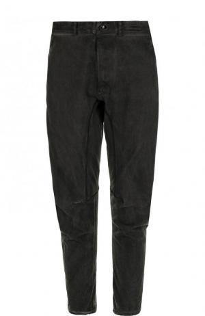 Хлопковые брюки прямого кроя Isaac Sellam. Цвет: темно-серый
