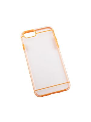 Защитная крышка для iPhone 6/6s LP (оранжевая с полосками/прозрачная задняя часть) Liberty Project. Цвет: прозрачный