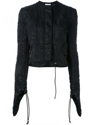 Приталенная куртка с экстра длинными рукавами JW Anderson. Цвет: чёрный