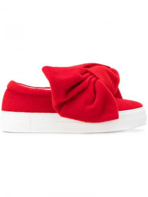 Bow slip-on sneakers Joshua Sanders. Цвет: красный