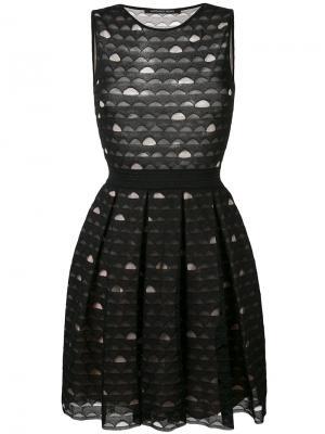 Вышитое платье с расклешенной юбкой Antonino Valenti. Цвет: чёрный