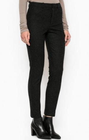 Зауженные брюки из полиамида, вискозы и шерсти DRYKORN. Цвет: серый