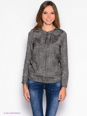 Блузка American Outfitters. Цвет: коричневый, серый