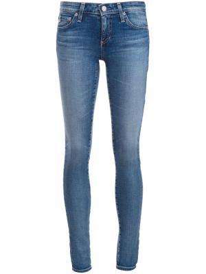 Джинсы скинни Ag Jeans. Цвет: синий
