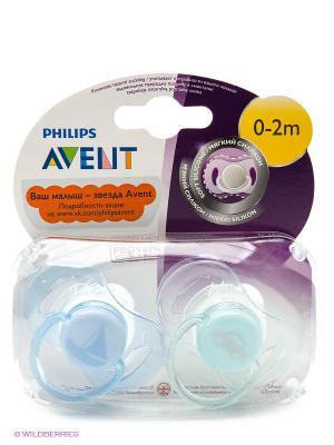 Мини-пустышки для мальчиков Philips Avent SCF151/01 серия самых маленьких, 2 шт., 0-2 мес.. Цвет: прозрачный, голубой