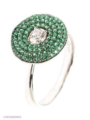 Кольцо APM Monaco. Цвет: зеленый
