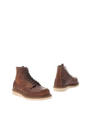 Полусапоги и высокие ботинки RED WING SHOES. Цвет: темно-коричневый