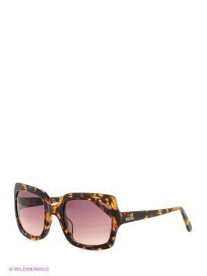 Солнцезащитные очки ML 528S 02 MOSCHINO. Цвет: коричневый