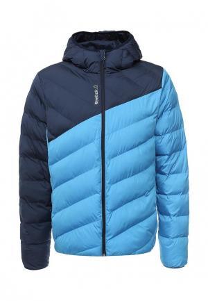 Куртка утепленная Reebok. Цвет: голубой