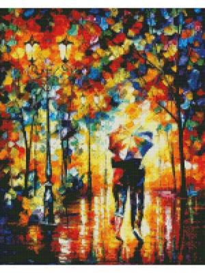 Алмазная мозаика Под одним зонтом Цветной. Цвет: белый