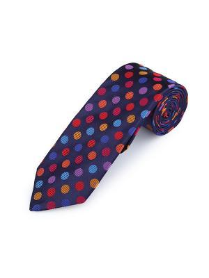 Галстук Regular Dots Tulip Duchamp. Цвет: темно-синий, голубой, красный, оранжевый, сиреневый