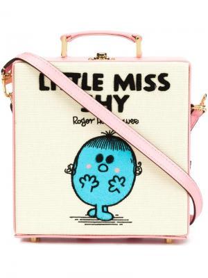 Сумка-тоут Little Miss Shy Olympia Le-Tan. Цвет: розовый и фиолетовый