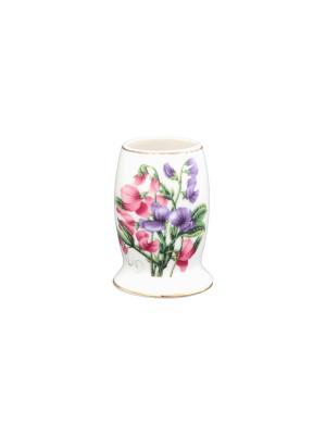 Вазочка под зубочистки Душистый цветок Elan Gallery. Цвет: белый, зеленый, розовый