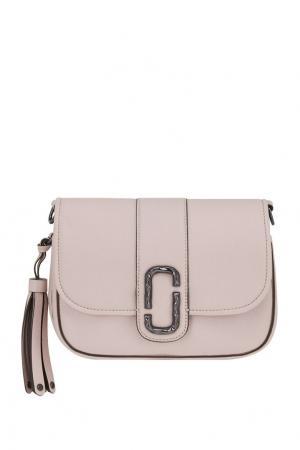Кожаная сумка Marc Jacobs. Цвет: пудровый