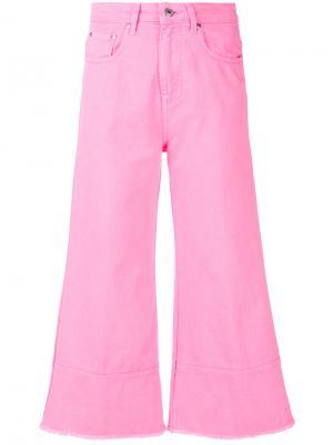 Укороченные расклешенные джинсы MSGM. Цвет: розовый и фиолетовый