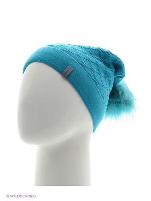 Биатрис Беркле шапка женская с помпоном Berkle. Цвет: бирюзовый