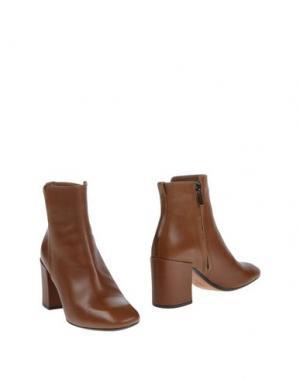Полусапоги и высокие ботинки THE SELLER. Цвет: коричневый