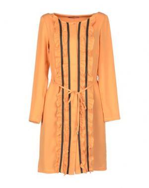 Платье до колена MILA SCHÖN CONCEPT. Цвет: абрикосовый